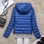 Women's Ultra light slim Down jacket ผสมขนเป็ด Duck down 90% !! (สีฟ้า) thumbnail 2
