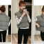 Women's winter vest jacket (Grey) thumbnail 7