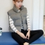 Women's winter vest jacket (Grey) thumbnail 1