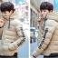 Trendy cotton winter jacket 2nd Edition (สีครีม) thumbnail 1