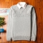 Super warm ticker men's sweater (สีขาว) thumbnail 1