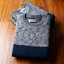 Super warm ticker men's sweater (สีน้ำเงินเทา) thumbnail 2
