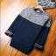 Super warm ticker men's sweater (สีน้ำเงินเทา) thumbnail 1