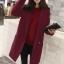 เสื้อโค้ท LOUSIMATE (สีแดงเลือดหมู)