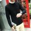 Super warm ticker men's sweater (สีดำ) thumbnail 3