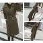 เสื้อโค้ท PASSM คุณภาพดี ผ้า Wool กันหนาว (สีเขียวกากี) thumbnail 4