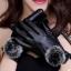 ถุงมือหนัง PU Collar lady glove (สีดำ) thumbnail 1