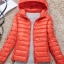 Women's Ultra light slim Down jacket ผสมขนเป็ด Duck down 90% !! (สีส้ม) thumbnail 1