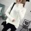 SUMIYA women sweater กันหนาว คุณภาพดี (สีขาว) thumbnail 4