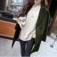 เสื้อโค้ท Winter autume woolen coat tide สีเขียวเข้ม thumbnail 2