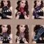 ถุงมือหนัง PU Collar lady glove (สีดำ) thumbnail 6