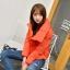 Korean women's winter jacket (Orange) thumbnail 1