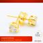 RTN205 ต่างหู ตุ้มหู ทองคำ ประดับเพชร (ฐานหนามเตย) thumbnail 1
