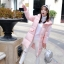 Korean girl's long winter jacket (pink) thumbnail 1