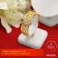 กำไลใบมะกอกทองคำประดับทองคำขาว (เล็ก) thumbnail 1