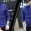 HQ Winter sweater CM123 (สีน้ำเงิน) thumbnail 4