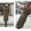 เสื้อโค้ท PASSM คุณภาพดี ผ้า Wool กันหนาว (สีเขียวกากี) thumbnail 3