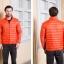 Men's Ultra light slim Down jacket ผสมขนเป็ด Duck down 90% !! (สีส้ม) thumbnail 1