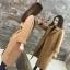 เสื้อโค้ท PASSM คุณภาพดีผ้า Wool กันหนาว (สี Beige) thumbnail 4