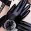 ถุงมือหนัง PU Collar lady glove (สีดำ) thumbnail 5