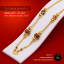 NL0013-1 สร้อยทอง สร้อยคอทองคำ สร้อยคอ 1 บาท ลงยา ยาว 21 นิ้ว thumbnail 1