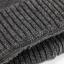 High quality winter wool hat หมวกไหมพรหมพร้อมผ้าพันคอ (สีดำ) thumbnail 4