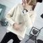 SUMIYA women sweater กันหนาว คุณภาพดี (สีครีม) thumbnail 4