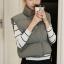 Women's winter vest jacket (Grey) thumbnail 6