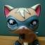LPS-0555 Comic Mask Super Hero cat thumbnail 4