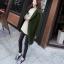 เสื้อโค้ท Winter autume woolen coat tide สีเขียวเข้ม thumbnail 4