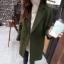 เสื้อโค้ท Winter autume woolen coat tide สีเขียวเข้ม thumbnail 1