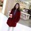 เสื้อโค้ท Winter autume woolen coat tide สีแดง thumbnail 1