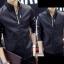 ็High quality men's leather jacket (สีดำ) thumbnail 2