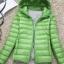 Women's Ultra light slim Down jacket ผสมขนเป็ด Duck down 90% !! (สีเขียว) thumbnail 1