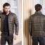 Men's Ultra light slim Down jacket ผสมขนเป็ด Duck down 90% !! (สีน้ำตาล) thumbnail 1