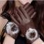 ถุงมือหนัง PU Collar lady glove (สีน้ำตาล) thumbnail 1