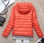 Women's Ultra light slim Down jacket ผสมขนเป็ด Duck down 90% !! (สีส้ม) thumbnail 2