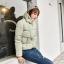 Korean women's winter jacket (Beige) thumbnail 1