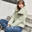 Korean women's winter jacket (Beige) thumbnail 2