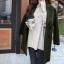 เสื้อโค้ท Winter autume woolen coat tide สีเขียวเข้ม thumbnail 3