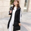 Korean girl's long winter jacket (Black) thumbnail 2