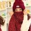 เซ็ตหมวกไหมพรหม + ผ้าพันคอ (ผู้หญิง/สีแดง) thumbnail 2