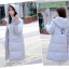 Korean girl's long winter jacket (Grey) thumbnail 6