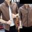 ็High quality men's leather jacket (สีน้ำตาล) thumbnail 1