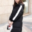 Korean girl's long winter jacket (Black) thumbnail 4