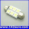 LFC003 หลอดไฟ LED 5050SMD 6SMD 12V ไฟส่องสว่างภายในห้องโดยสารรถยนต์
