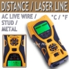 DMT005: เครื่องมือวัดระยะ 5 in1 Distance Meter Stud Metal Wire Detector Laser Tool