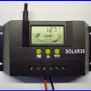 SCC012: โซล่า ชาร์จเจอร์ 30A 12V/24V Solar Controller Regulator Charge Battery Safe Protection