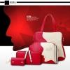 กระเป๋าแฟชั่น Berry Bag พร้อมส่ง รหัส SUB8817RD ได้ทั้งเซต 4 ใบ