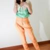 พร้อมส่ง ** กางเกง Royal Multi Color Pant สีส้ม